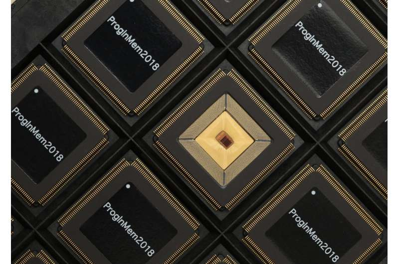 Merging memory and computation, programmable chip speeds AI, slashes power use