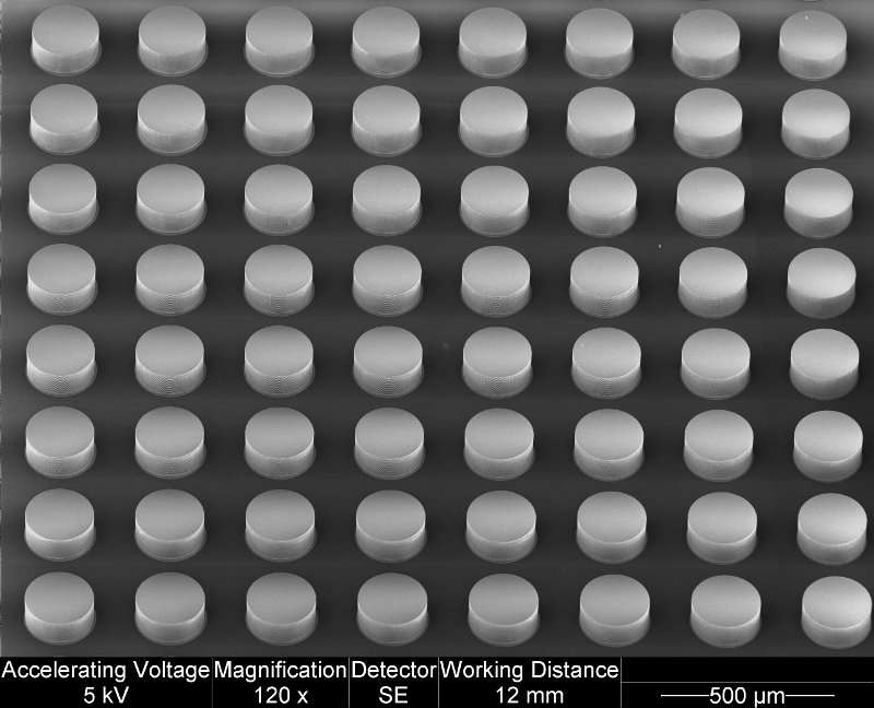 Metal-free metamaterial can be swiftly tuned to create changing electromagnetic effects