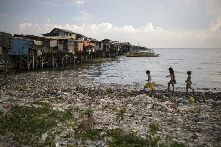 Microbeads and chipped plastic waste from grocery bags and cups often end up in the world's oceans