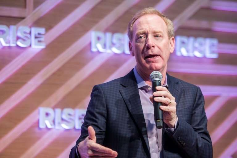 Microsoft president Brad Smith said the US tech giant will maintain its bid for a major Pentagon cloud computing contract while