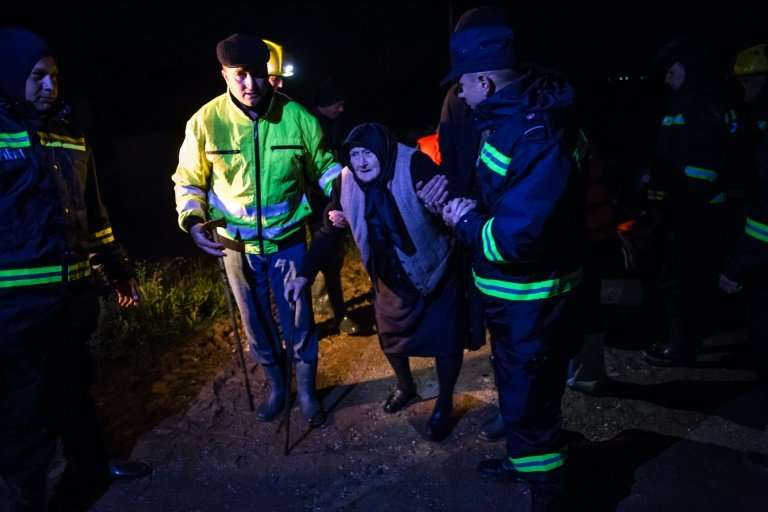 More than 250 people have fled the rising waters
