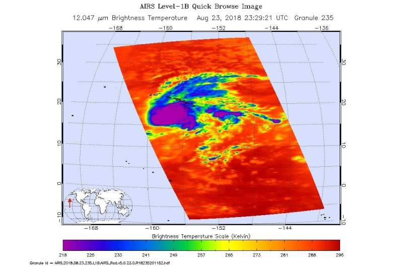 Multiple NASA instruments capture Hurricane Lane