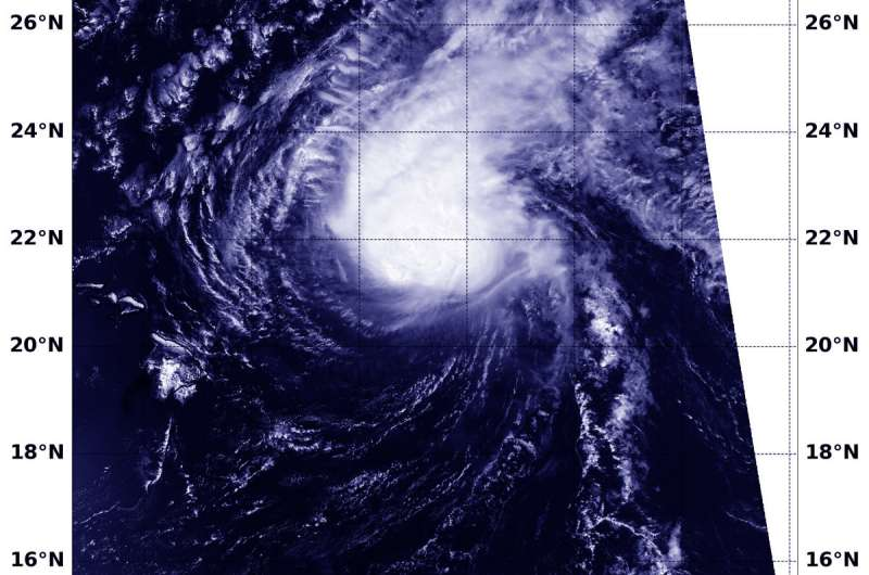 NASA finds Hurricane Norman hammered by wind shear