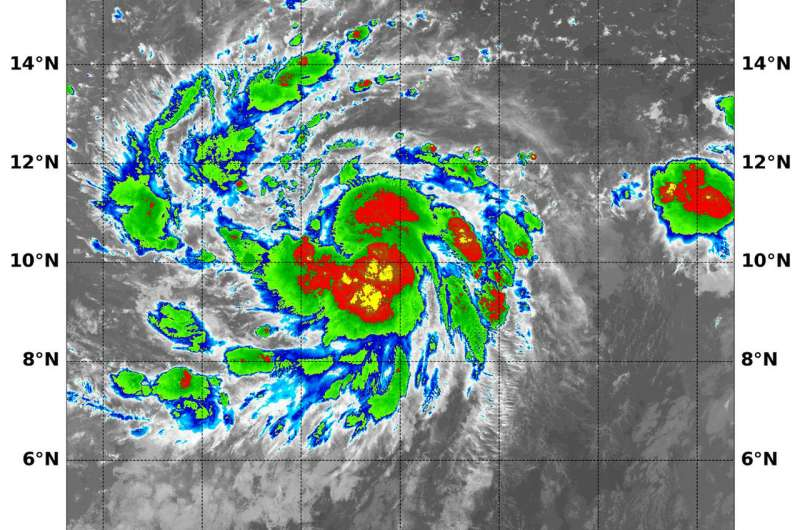 NASA finds intensifying Tropical Storm Lane