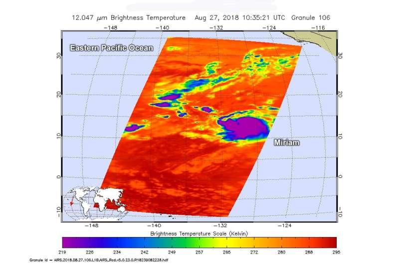NASA finds little improvement in Miriam's structure