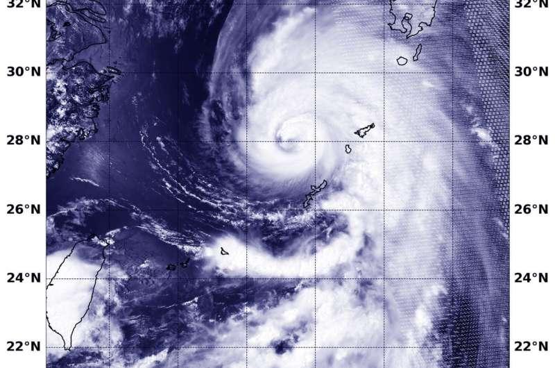 NASA finds Prapiroon strengthen into a typhoon
