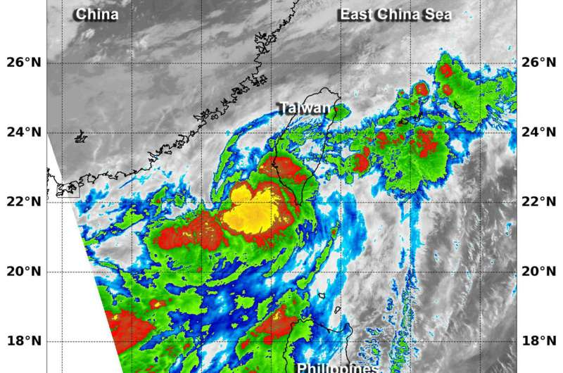 NASA finds small strength in newly formed Tropical Depression 08W