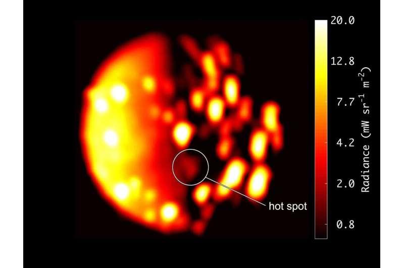 NASA Juno data indicate another possible volcano on Jupiter moon Io