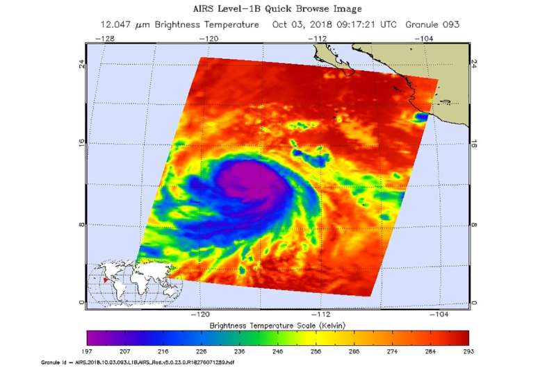 NASA takes powerful Hurricane Sergio's temperature