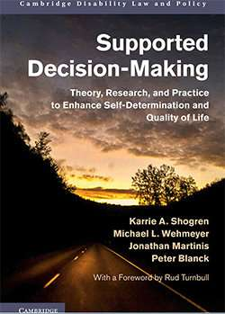 New book among first to examine how people with disabilities can take legal, decision-making lead in lives