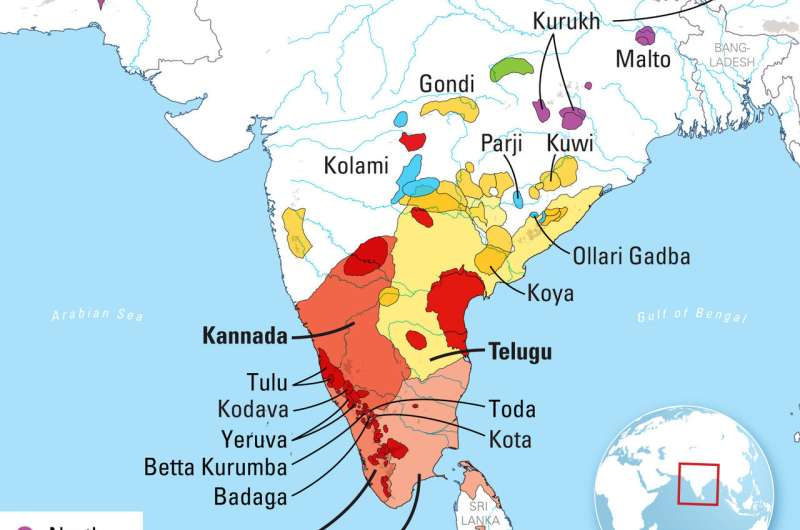 New linguistic analysis finds Dravidian language family is approximately 4,500 years old