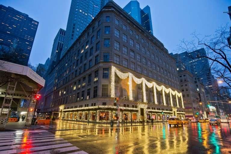 New York's Sak's Fifth Avenue pictured in November, 2014