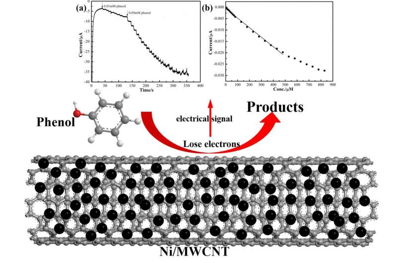 Ni/MWCNT-based electrochemical sensor for fast detection of phenol in wastewater