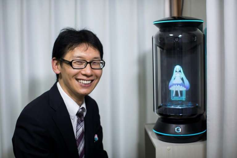 None of Akihiko Kondo's relatives attended his wedding to a hologram of virtual reality singer Hatsune Miku