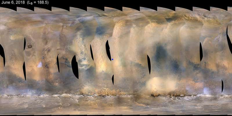 Opportunity hunkers down during dust storm