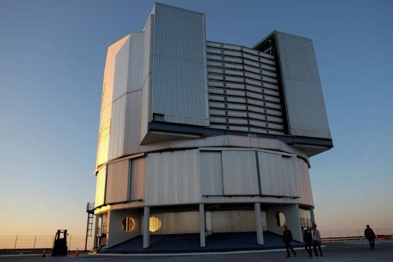 Part of the VLT (Very Large Telescope) in Paranal, about 1,150 kms north of Santiago, Chile, which will search for planets outsi