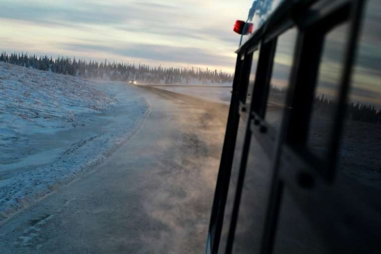 Permafrost covers a wide belt between the Arctic Circle and boreal forests, spanning Alaska, Canada, northern Europe and Russia