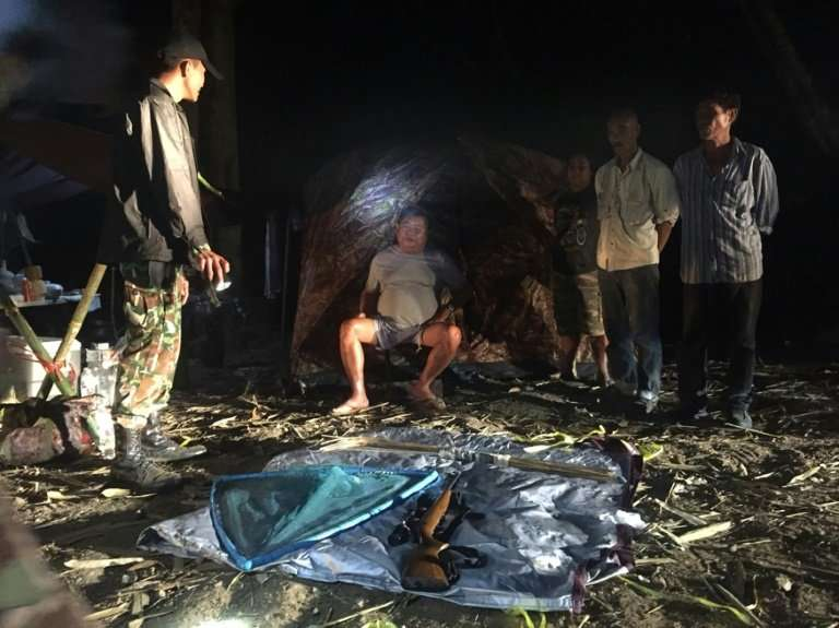 Premchai being arrested for poaching