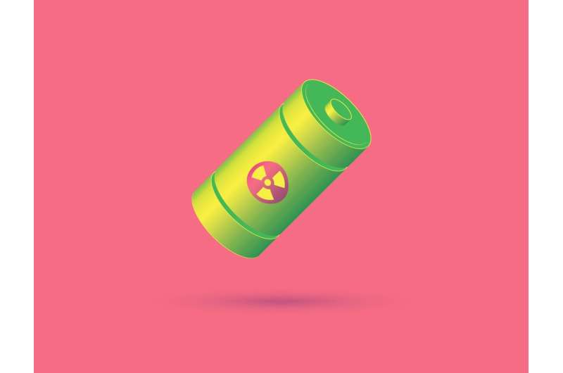 Prototype nuclear battery packs 10 times more power