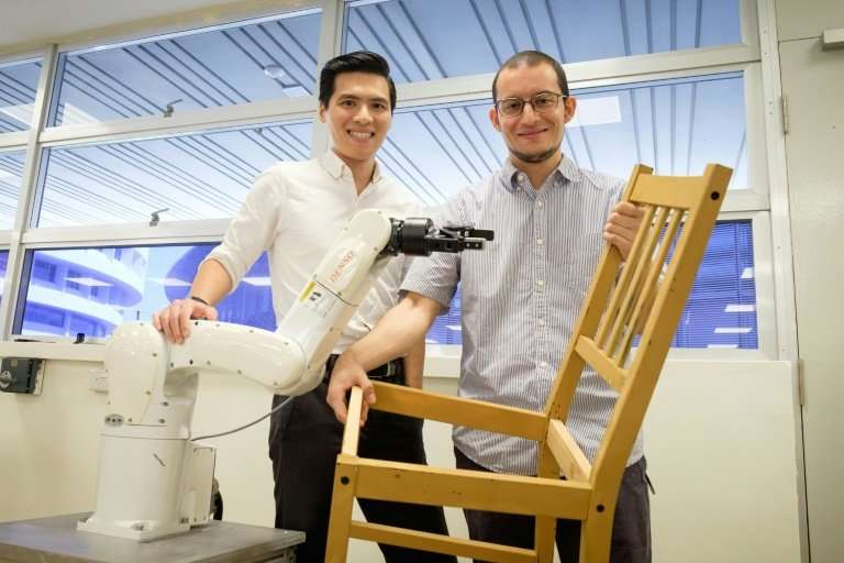 """""""For a robot, putting together an IKEA chair with such precision is more complex than it looks,"""" said team leader Pham"""