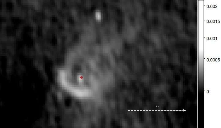 Radio nebula discovered around the pulsar PSR J0855–4644