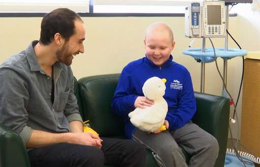 Robot duck's aim: Helps kids with cancer via power of play