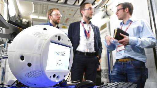 Robot with artificial intelligence about to invade space