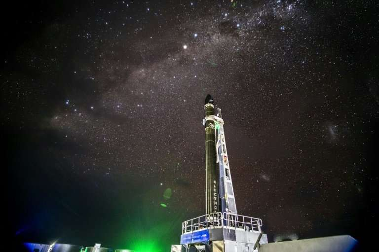 Rocket Lab's Electron rocket—seen on the launch pad in Mahia, New Zealand in June 2018—is expected to take flight sometime in No