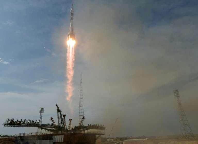 Russia's Soyuz rocket successfuly carried NASA's Serena Aunon-Chancellor, Sergey Prokopyev of Russia and German Alexander Gerst