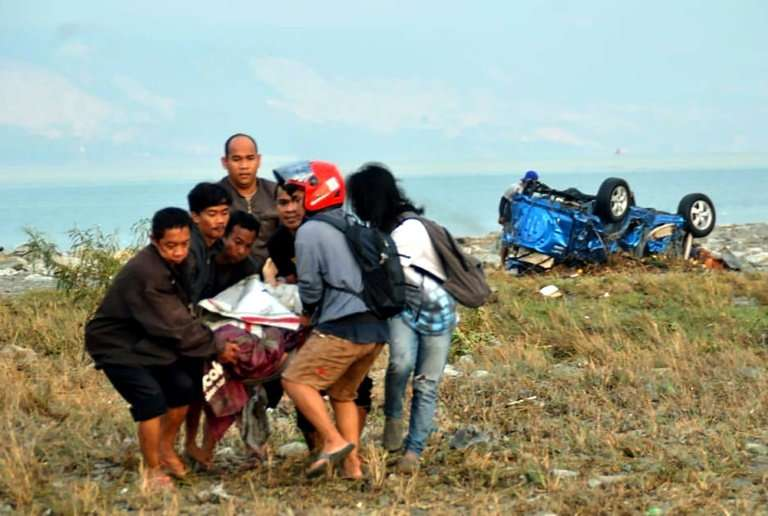 Scores of people are believed to have died in the quake-tsunami that hit the Indonesian island of Sulawesi on Friday