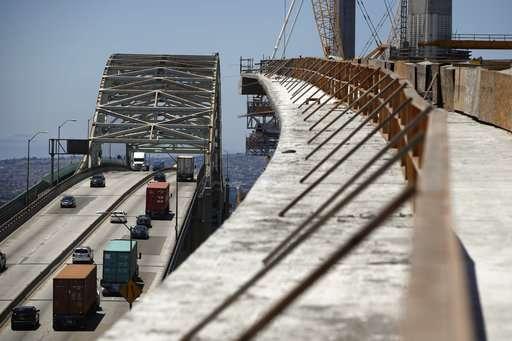 Sensors on new California bridge to record earthquake data
