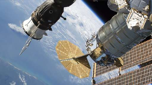 Small air leak in Russian capsule patched at space station