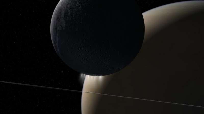 Sound of electromagnetic energy moving between Saturn, Enceladus