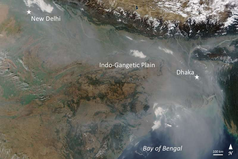 South Asian monsoon efficiently purifies the air of pollutants, but also distributes them across the globe
