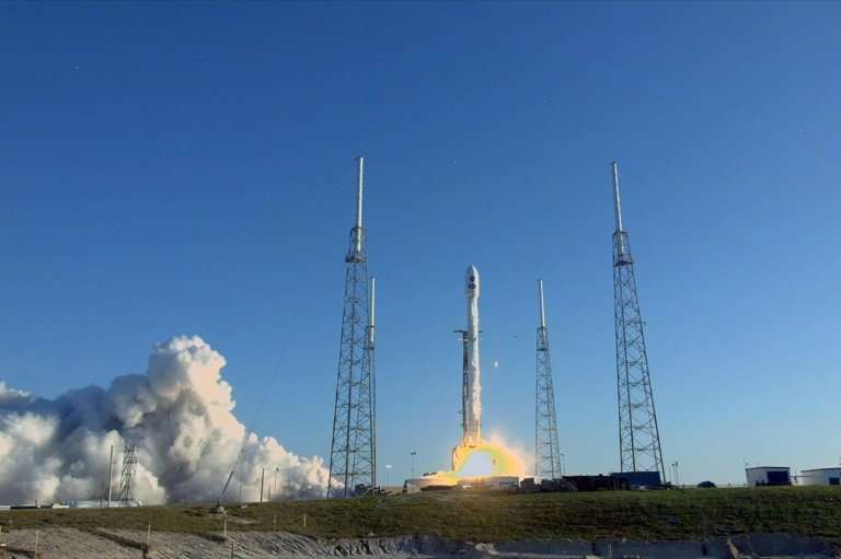 SpaceX currently operates two rockets: the Falcon 9, pictured here at Cape Canaveral, Florida, and the Falcon Heavy