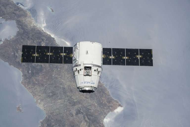 SpaceX's Dragon capsule, seen here in a cargo configuration, during a NASA mission to the International Space Station in July 20