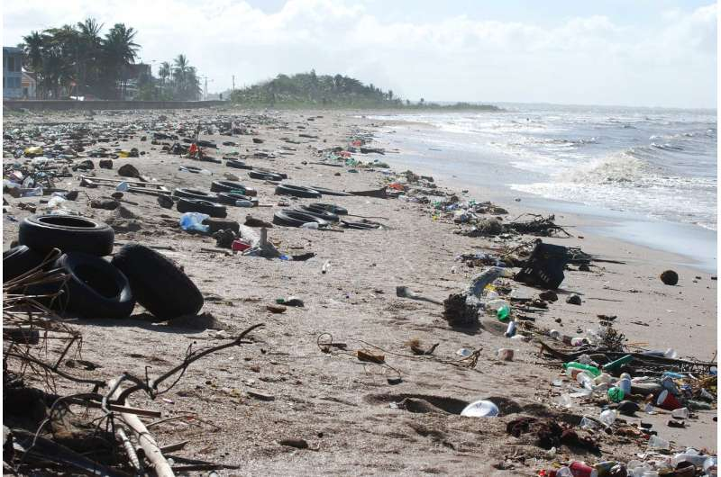 Sticky tape and simulations help assess microplastic risk
