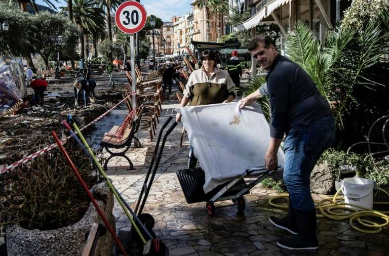 Storms wrought havoc in the port of Rapallo, near Genoa, on Italy's northern coast last week