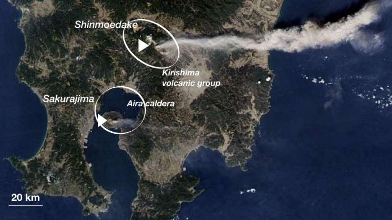 Study finds deep subterranean connection between two Japan volcanoes