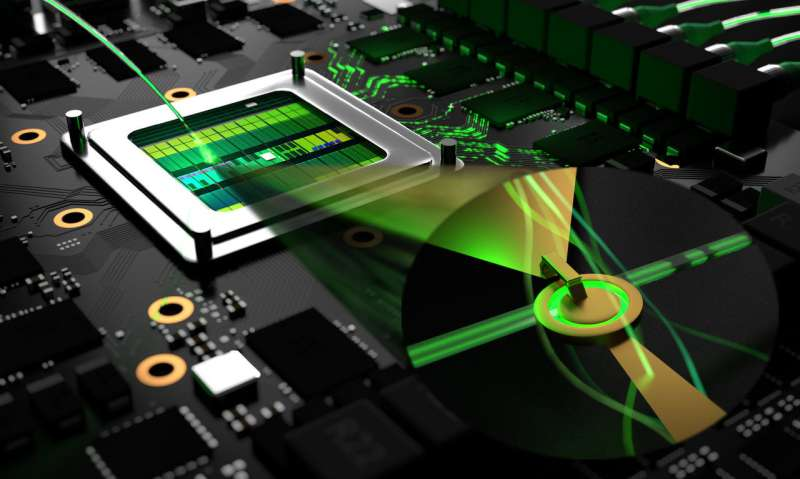 Switch controls light on a nanoscale for faster information processing