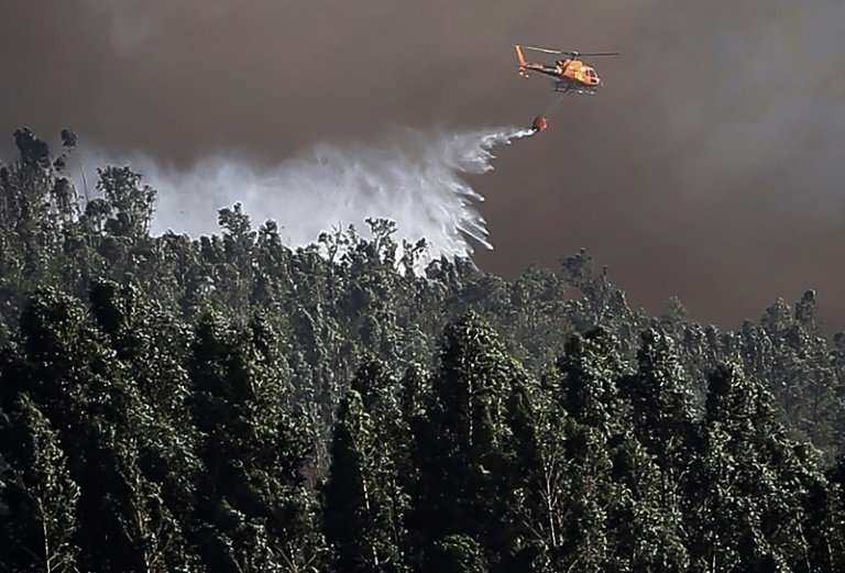 The affected zone is planted with pines and highly-flammable eucalyptus trees and scored by difficult to reach valleys and ravin