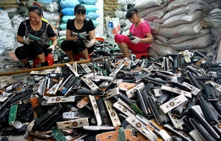 The Chinese government says it is concerned about hazardous materials mixed with the waste the country imports to recycle