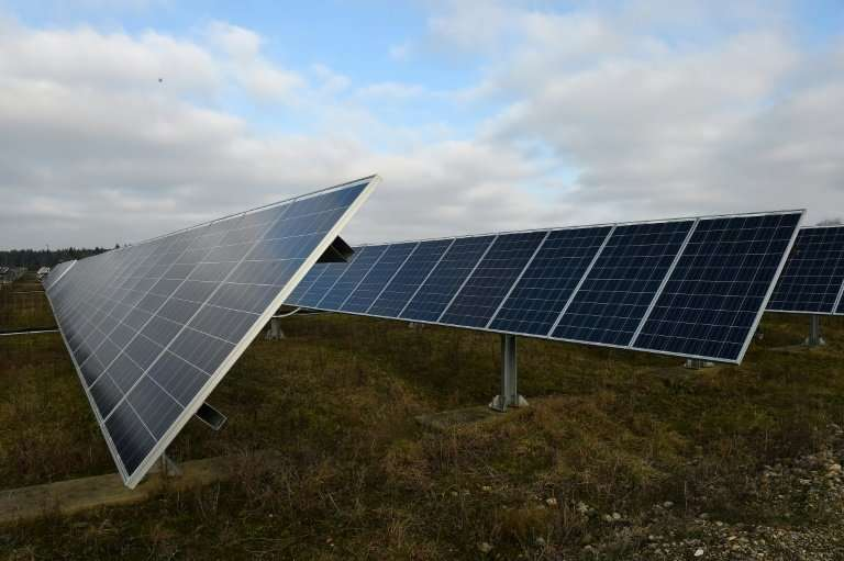 The cost for solar power, such as this facility in Allonnes, France, has fallen in recent years