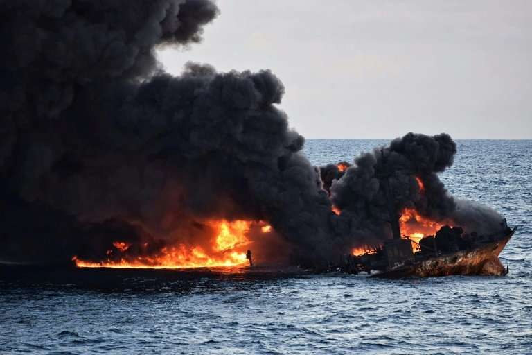 The crude tanker Sanchi went under in a ball of flames last month, sparking concerns it could lead to a massive environmental ca