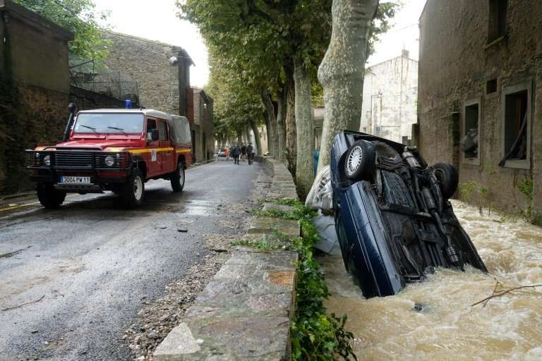 The equivalent of three months of rainfall was dumped overnight in the Aude region in just a few hours