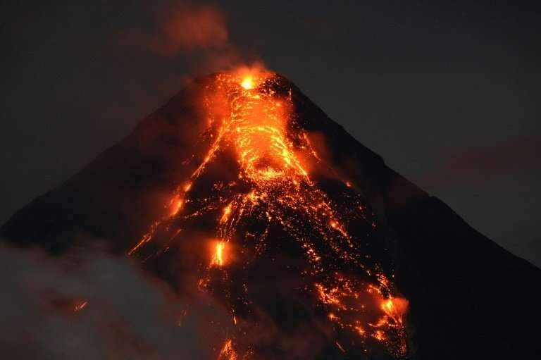The eruption of Mount Mayon volcano in the Philippines has forced tens of thousands to flee their homes