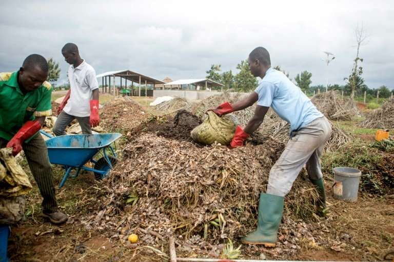 The facility processes around six tonnes of organic waste every week, turning it into 200 cubic metres of biogas