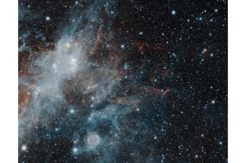 The fading ghost of a long-dead star