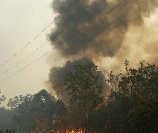 The fires erupted as Queensland is in the grip of a scorching heatwave