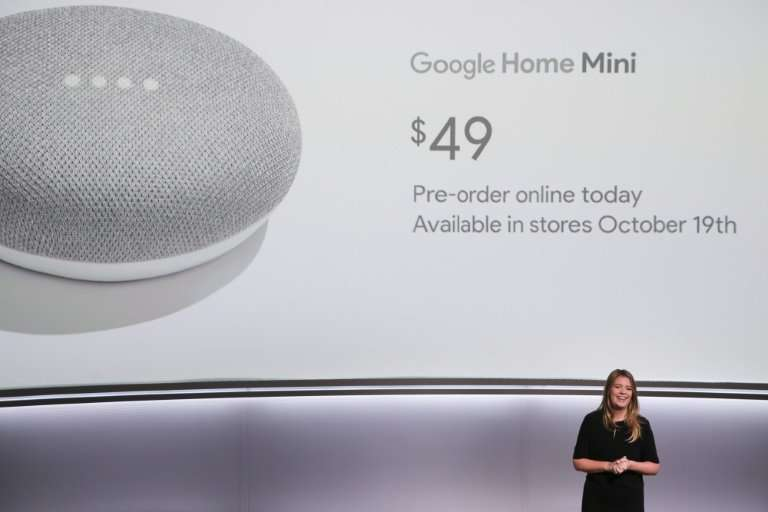 The Google Home Mini, launched a year ago, has become the world's best-selling connected speaker, according to a survey